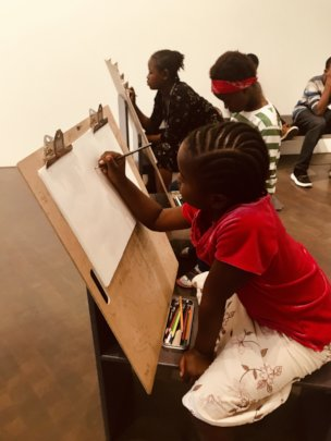 Sketching at the Denver Art Museum