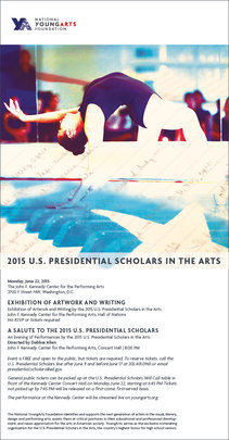 2015 U.S. Presidential Scholars Performance Invite