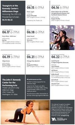 2015 YoungArts PSA Millennium Stage Schedule