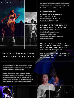 2016 U.S. Presidential Scholars in the Arts
