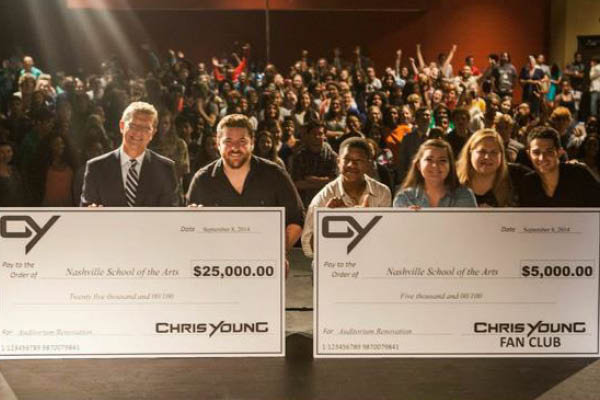 Alumni Chris Young at Nashville School of the Arts