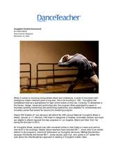 Dance Teacher Magazine Article - YoungArts Winners (PDF)