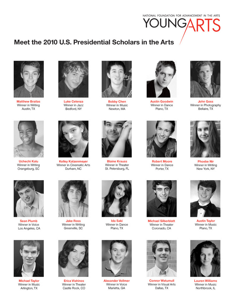 The 2010 U.S. Presidential Scholars in the Arts