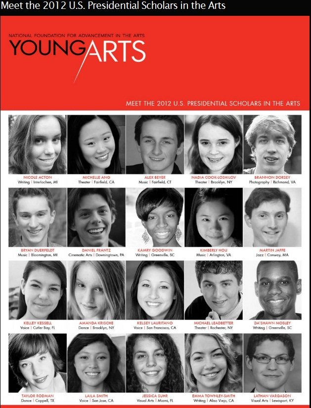 2012 US Presidential Scholar in the Arts
