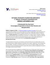 YoungArts Awareness Day Press Release (PDF)