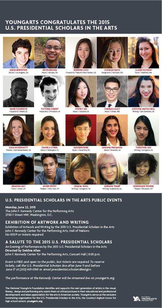2015 U.S. Presidential Scholars in the Arts