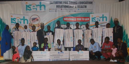 2018 SSCE/UTME Scholarship Beneficiaries with Team