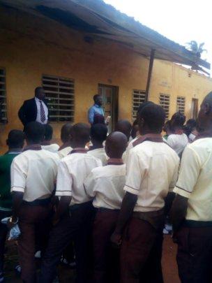 ISERH Program Director addressing the students