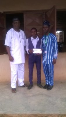 ISERH M&E Officer, Amb. Joshua & his Principal