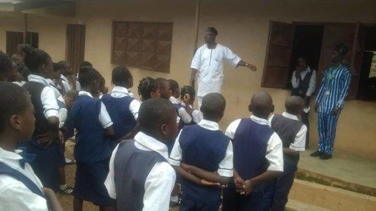 SPAMOCA Principal addressing his students
