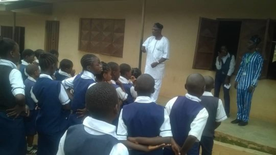 ISERH M&E Officer addressing SPAMOCA Students