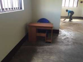 Preparing classrooms for furniture!