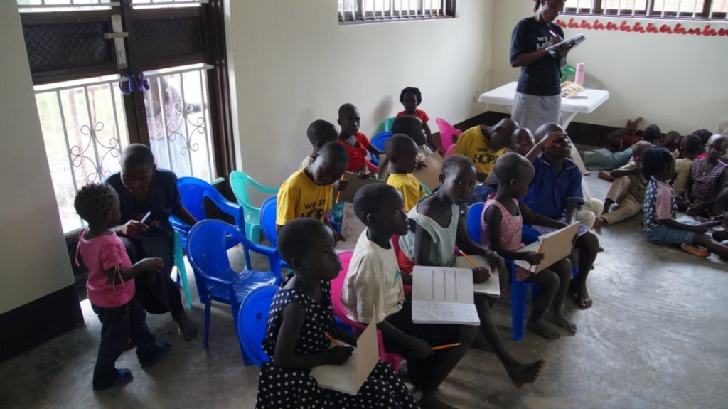 Literacy class- we still need more furniture!