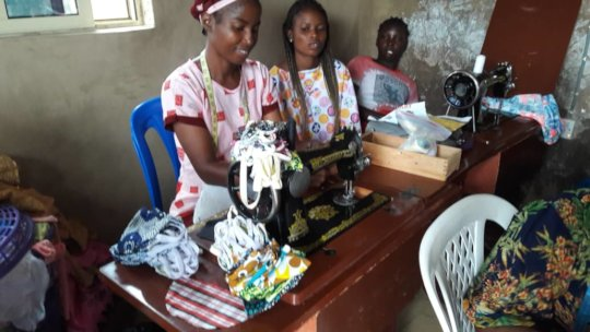 ONE OF THE WOMEN THAT RECEIVED RELIEF