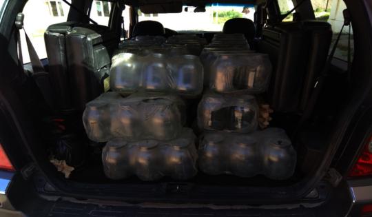 Delivering storeage jars