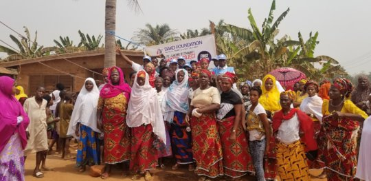 community women show support for the water project