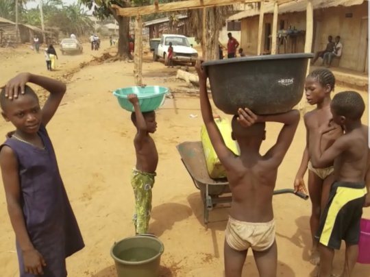 Children benefiting from service point near home