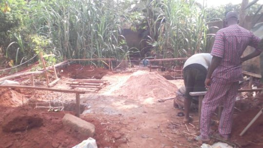 Site preparation and digging of basement floor