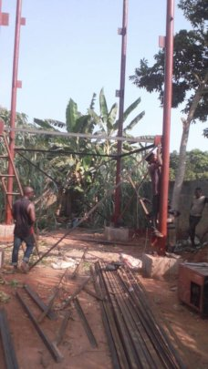 Ongoing construction of 40ft Steel scaffolding