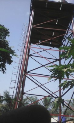 40FT high steel scaffolding with 10000L water tank