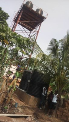 The two water storage of 5000L each.