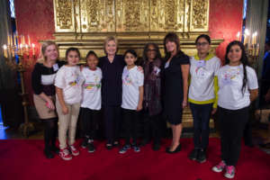 Our girls were thrilled to meet Hillary Clinton