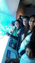 Girls at the Monterey Bay Aquarium.