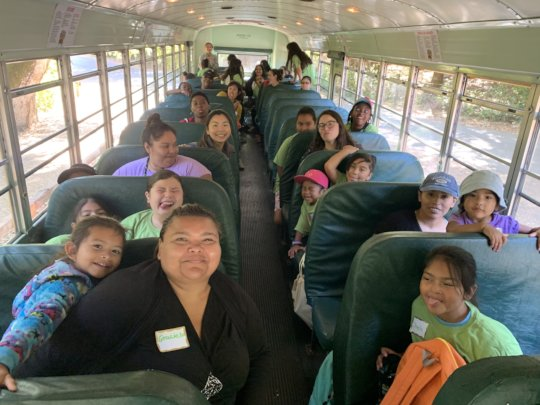 Parents help chaperone a hiking field trip