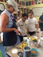 Karen and girls work up healthy kitchen treasures