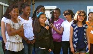 Participants performing the g2W Rap
