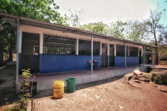 exterior of the refurbished classrooms