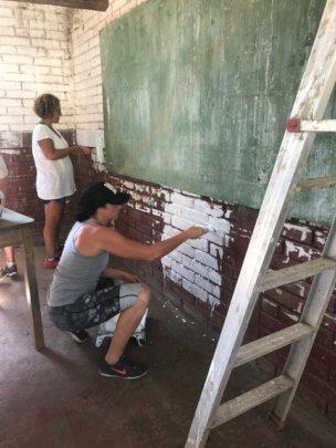 Volunteers hard at work