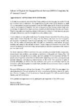 An Article Reflecting on SENS 2019 (PDF)