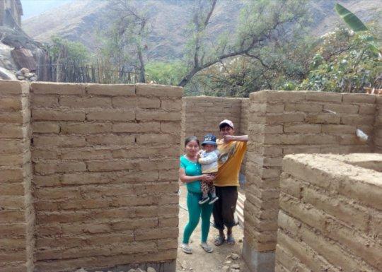 Esmeralda&Jorge's house with adobe walls finished