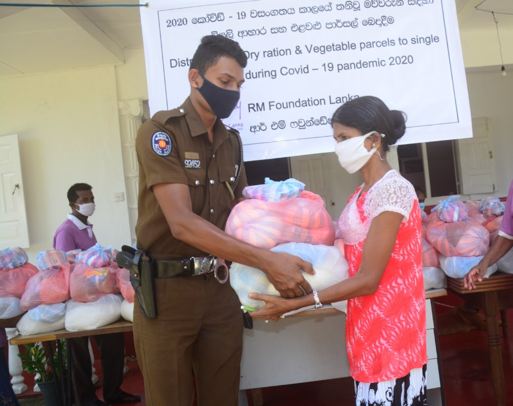 Police support for emergency food distribution