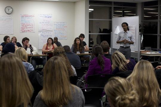 Skyler Jackson training teachers in Orange, CA