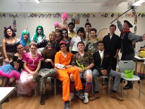 our class on Halloween