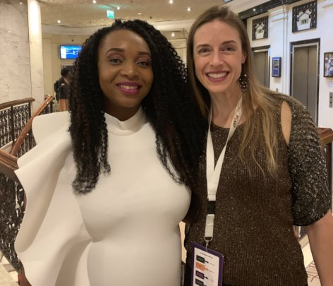 Piper with Dr. Yemisi, founder of AWiM