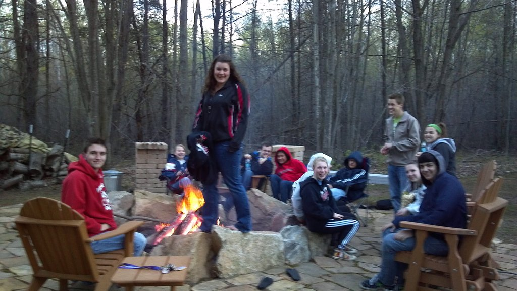 Bonfire - rain or shine at the Drake