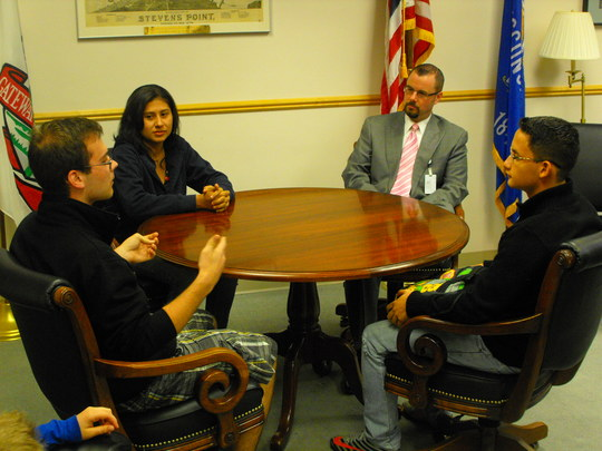 Meeting with the Stevens Point Mayor