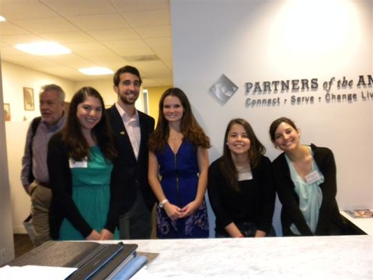 Olivia at the Partners of the Americas office