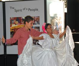 Cristhian and Karla sharing their culture through dance.