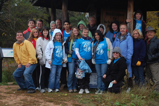 group picture of our 2009 Bike Hike Event