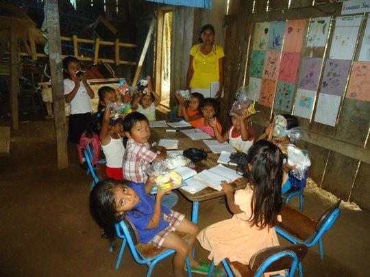 Preschool classes receiving supplies