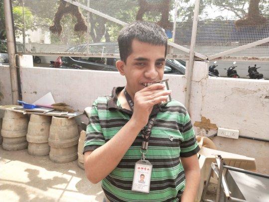 Rakshith loves his milk break !!