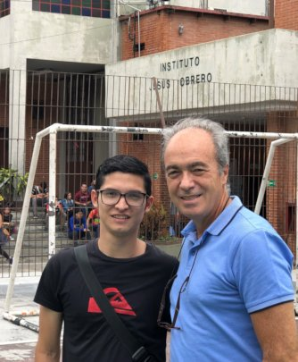 Jean Marcos and his mentor Jose