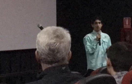 Gerardo during his speech
