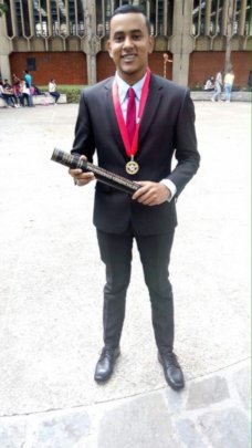 Christian at graduation
