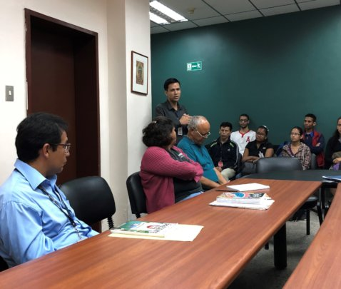 Meeting with Staff and Students