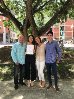 Mariana with her family